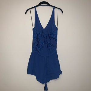 NWT! Blessed are the Meek Blue Playsuit